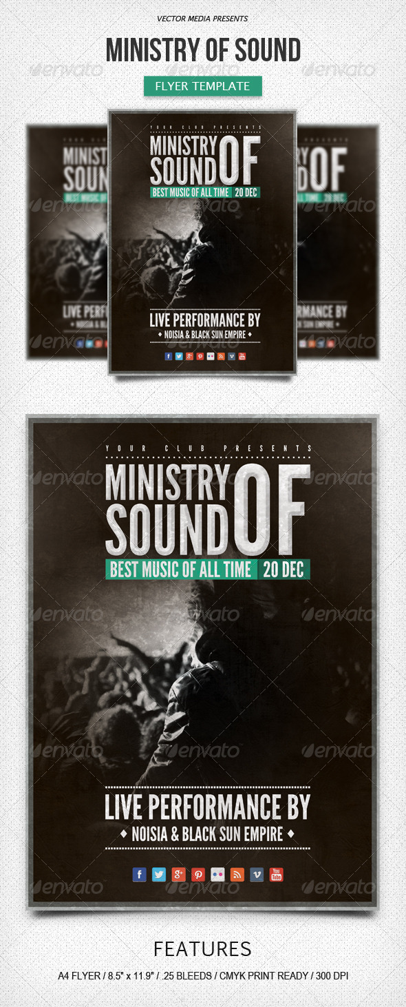 Ministry of Sound - Flyer - Events Flyers
