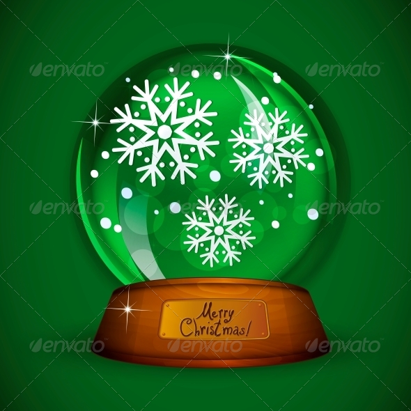 Christmas Snow Globe with Snowflake  - Patterns Decorative