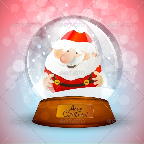 Christmas Snow Globe with Santa Claus  - Patterns Decorative