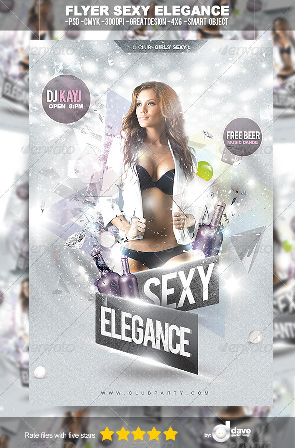 Flyer Sexy Elegance - Clubs & Parties Events