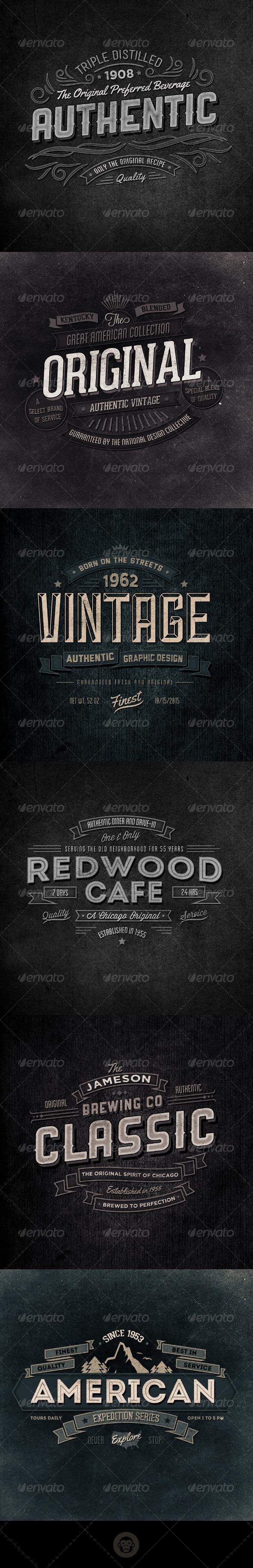 Retro Typographic Insignia and Badges Vol 2 - Badges & Stickers Web Elements