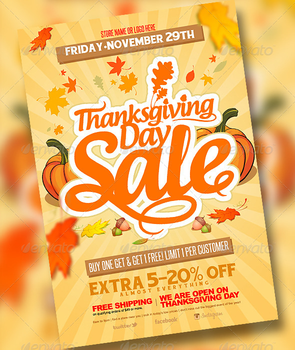 Thanksgiving Sale - Clubs & Parties Events