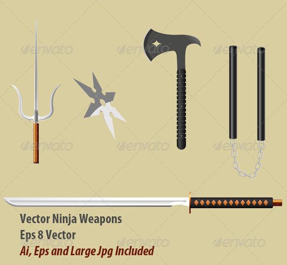 Ninja Equipment - Objects Vectors