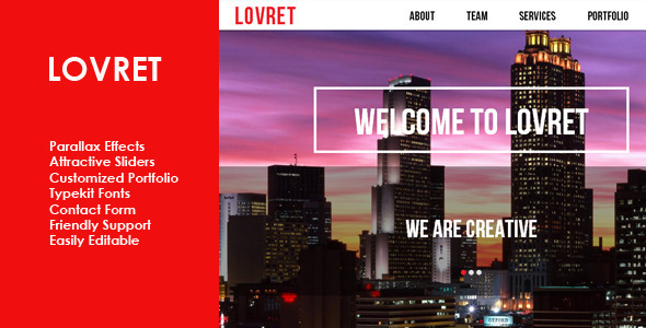 Lovret Multipurpose Muse Theme - Corporate Muse Templates