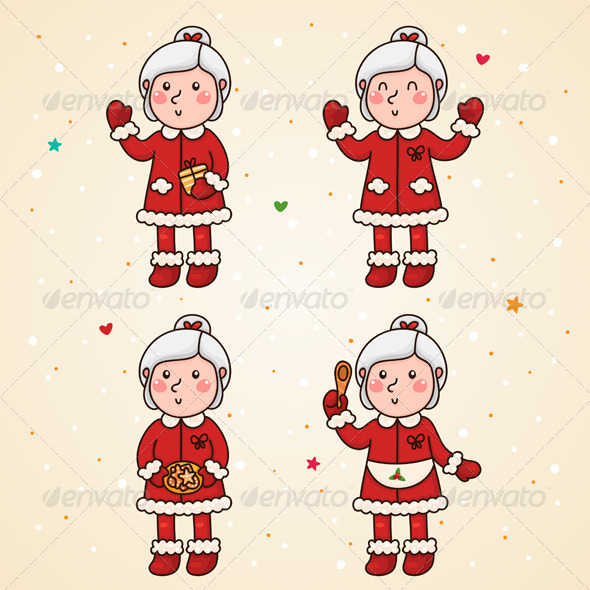Mrs Claus, Set - Christmas Seasons/Holidays