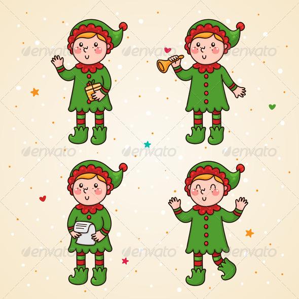 Elf Set - Christmas Seasons/Holidays