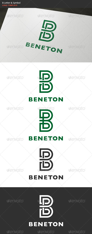 B Letter & Symbol Logo - Letters Logo Templates