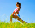 Athletic Woman Exercising - PhotoDune Item for Sale