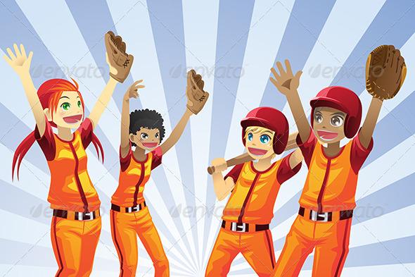 Baseball Kids Players - Sports/Activity Conceptual
