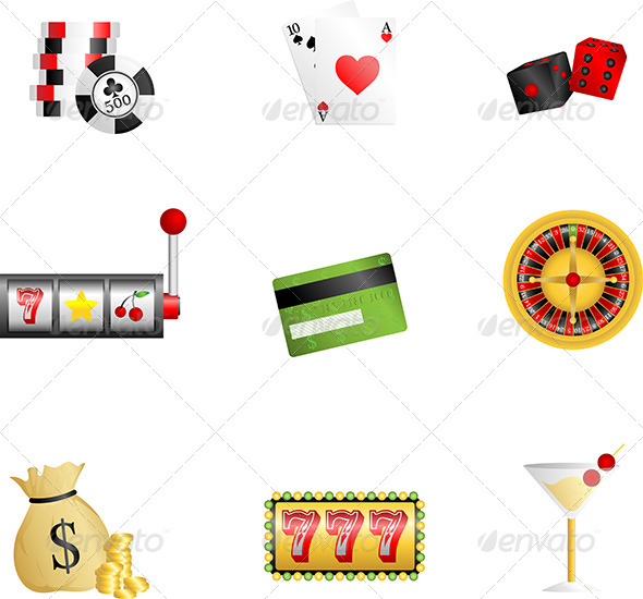Gambling Icons - Objects Vectors