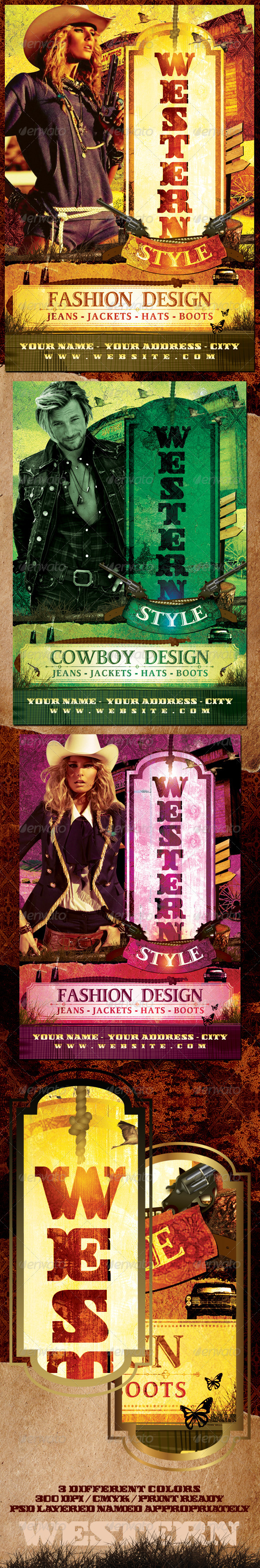 Western Style Flyer Template - Clubs & Parties Events