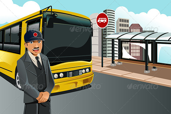 Bus Driver - People Characters