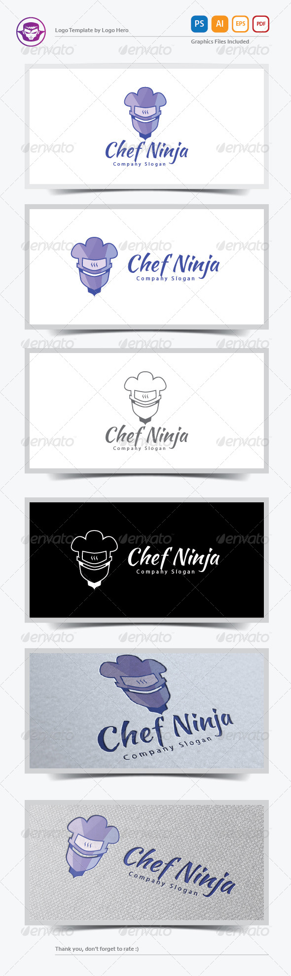 Chef Ninja Logo Template - Humans Logo Templates