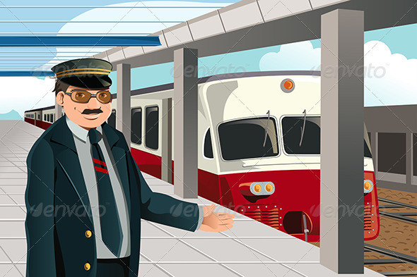 Train Conductor - People Characters