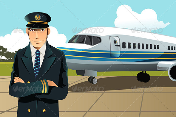 Airplane Pilot - People Characters