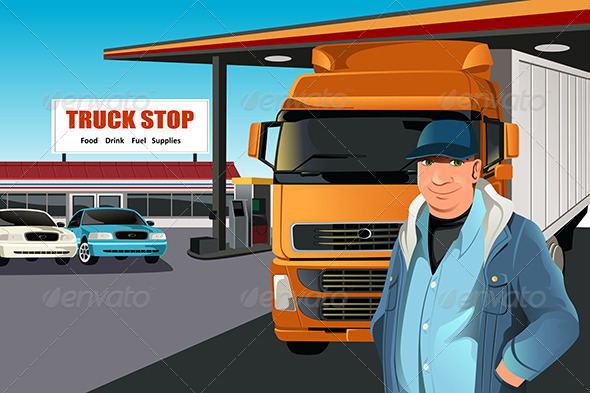 Truck Driver - People Characters