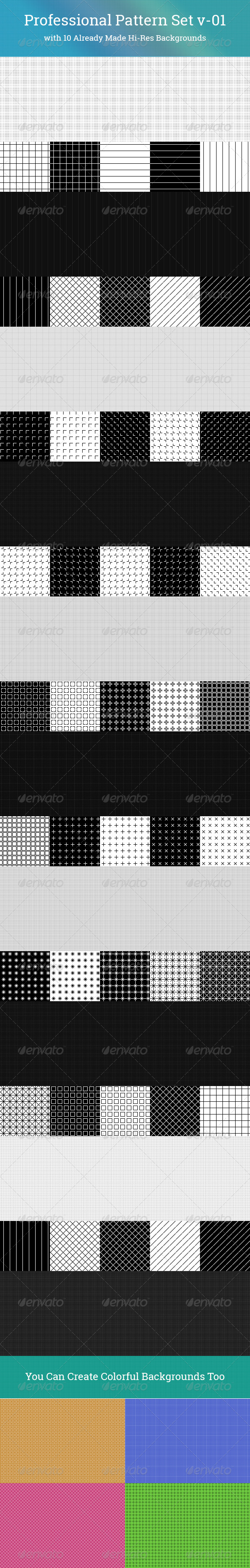 Professional Pattern Set v-01 - Patterns Backgrounds