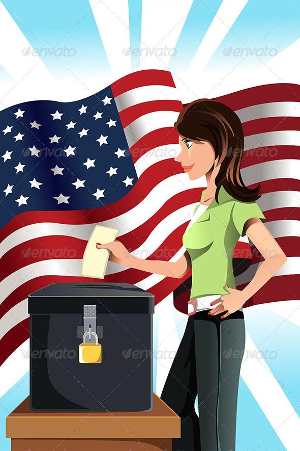 Voting Woman - Conceptual Vectors
