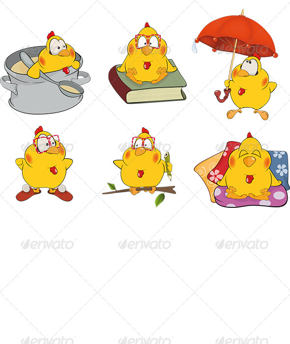 Chicken Clip Art Cartoon - Animals Characters