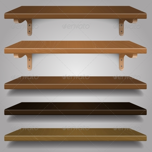 Vector - Wood Shelves - Man-made Objects Objects
