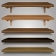 Vector - Wood Shelves - GraphicRiver Item for Sale