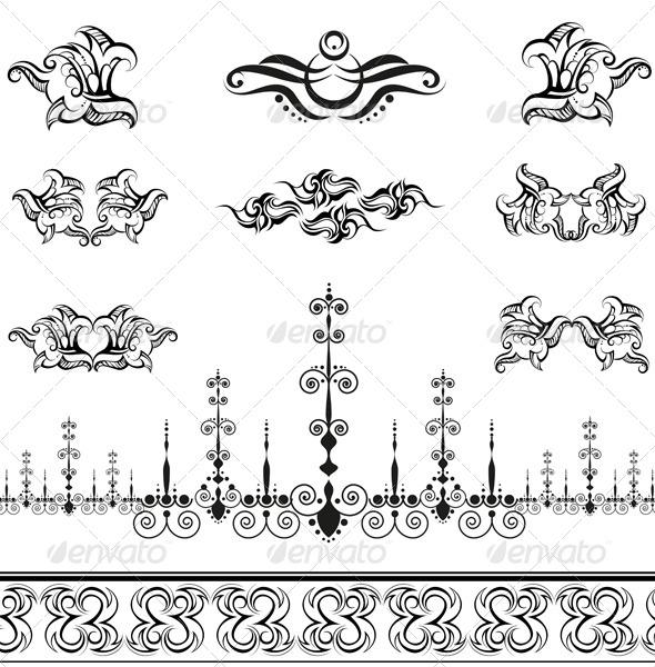 Decorative Elements - Flourishes / Swirls Decorative