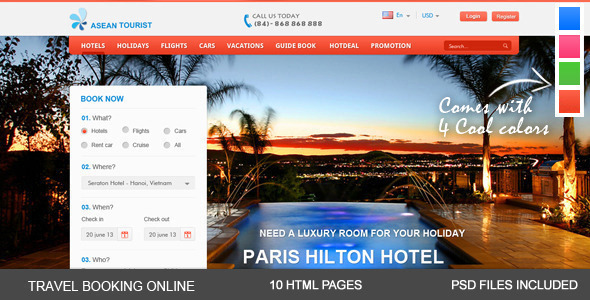aTourist – Hotel, Travel Booking Site Template