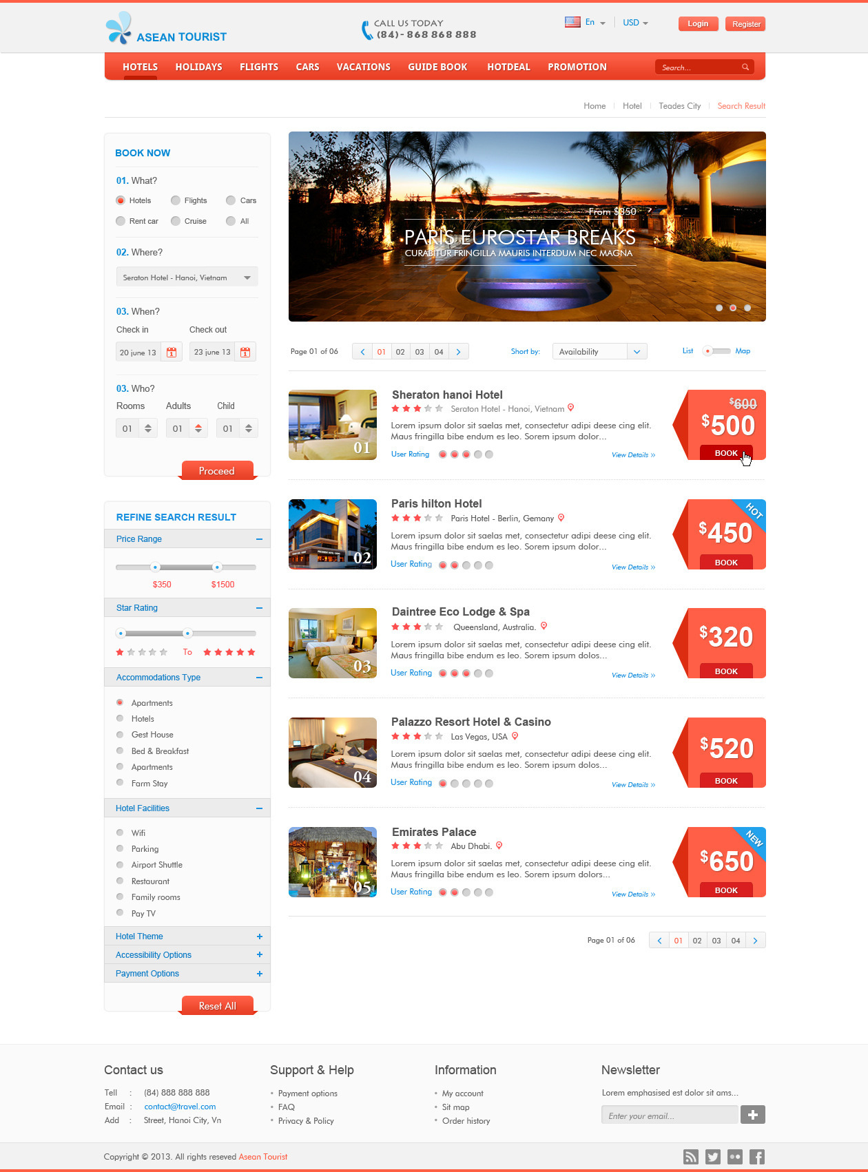 Atourist Hotel Travel Booking Site Template By