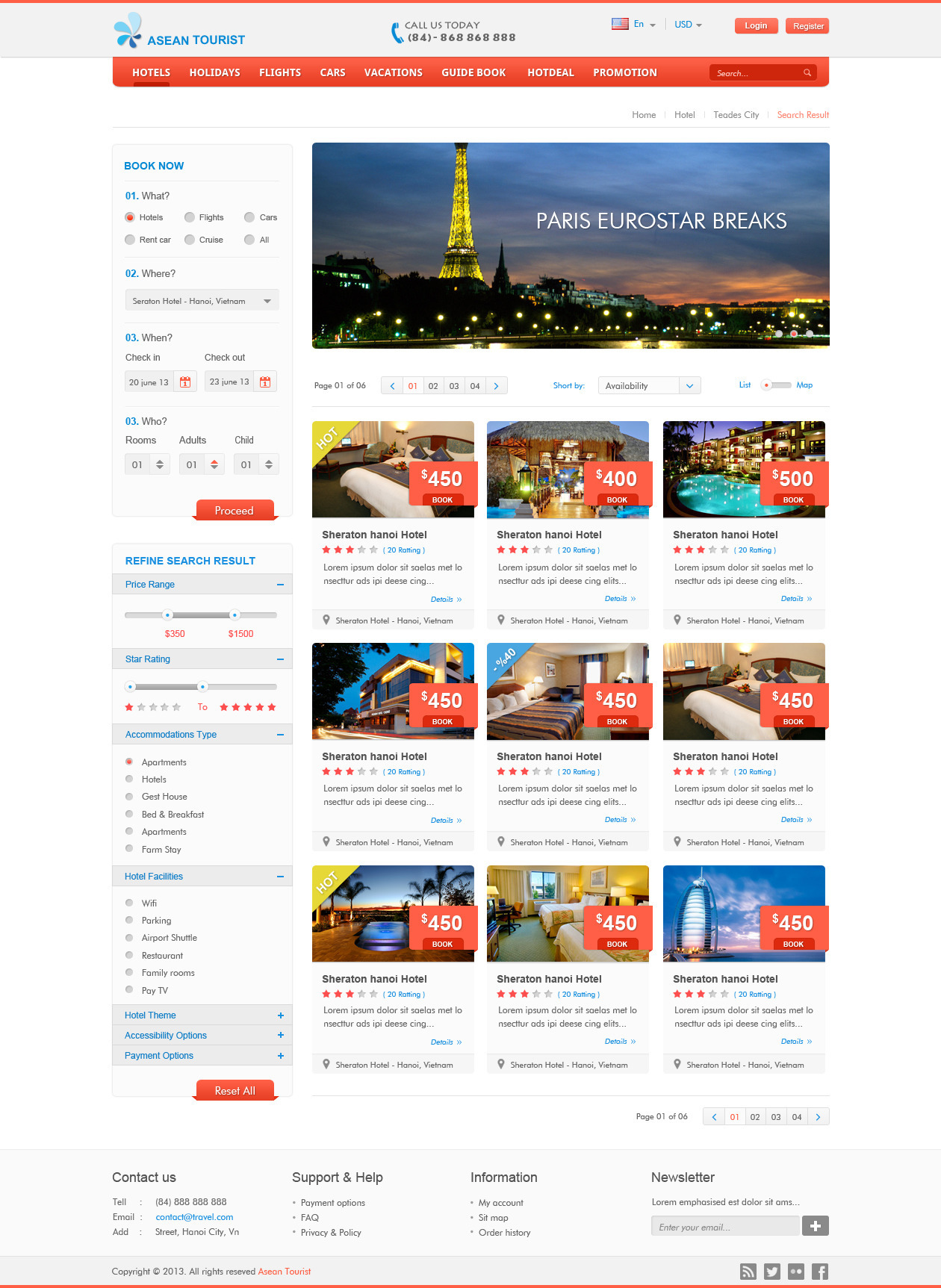 aTourist - Hotel, Travel Booking Site Template by Templatation ...