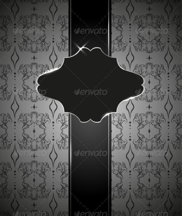 Invitation Card with Seamless Wallpaper Pattern - Backgrounds Decorative