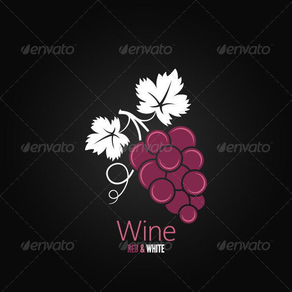 Wine Grapes Design Background - Food Objects