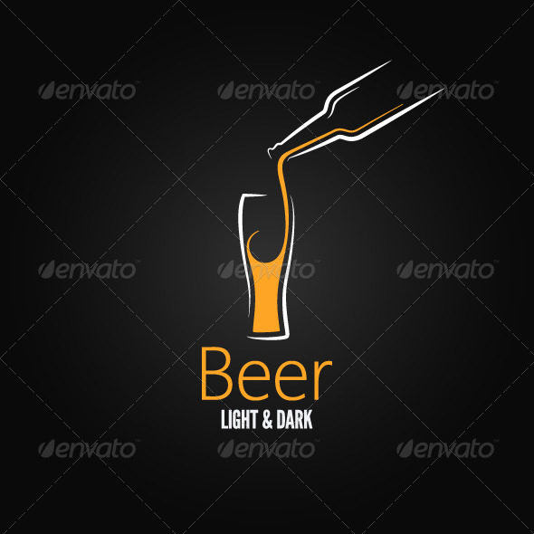 Beer Glass Design Menu Background - Food Objects
