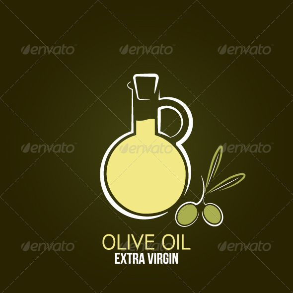 Olive Oil Design Background - Food Objects
