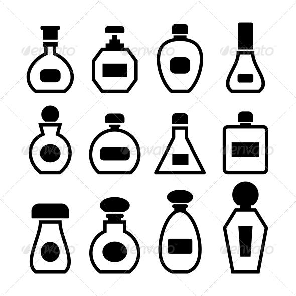 Perfume Bottles Vector - Health/Medicine Conceptual