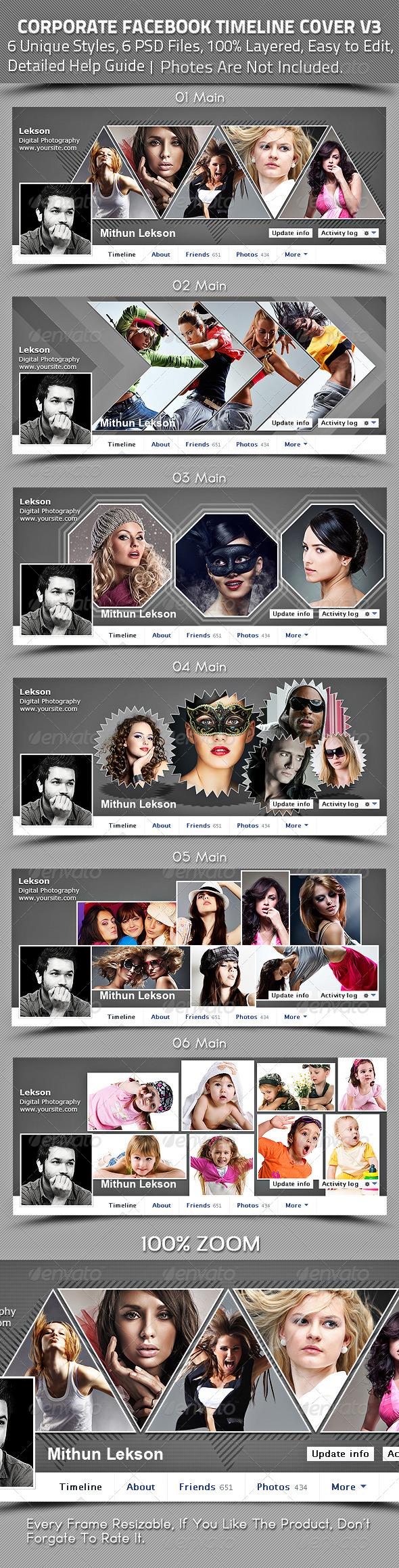 Corporate Facebook Timeline Cover V3 - Facebook Timeline Covers Social Media