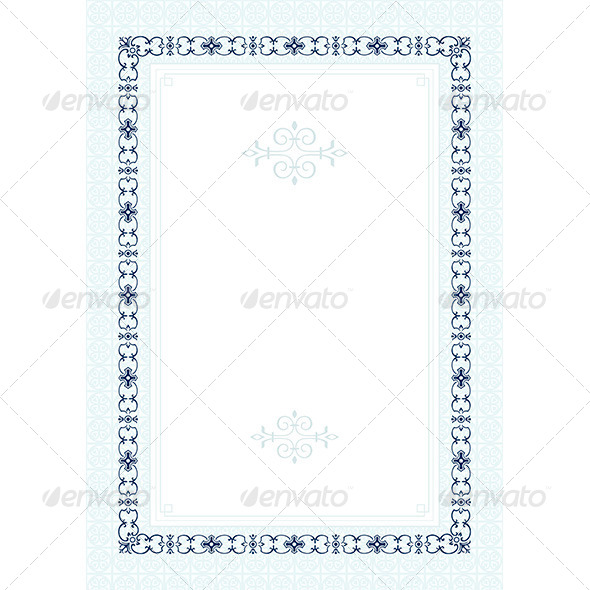 Form for Diploma - Patterns Decorative