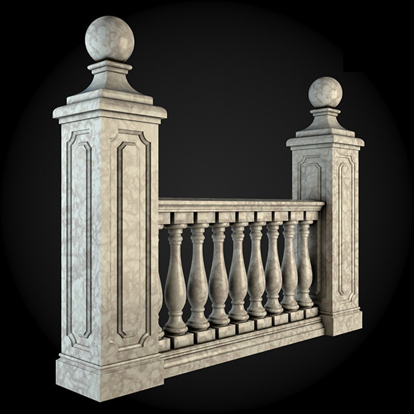 003_Baluster - 3DOcean Item for Sale