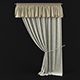 Curtain with pelmet - 3DOcean Item for Sale