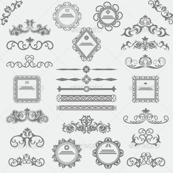 Vintage Design Elements 83 - Decorative Vectors