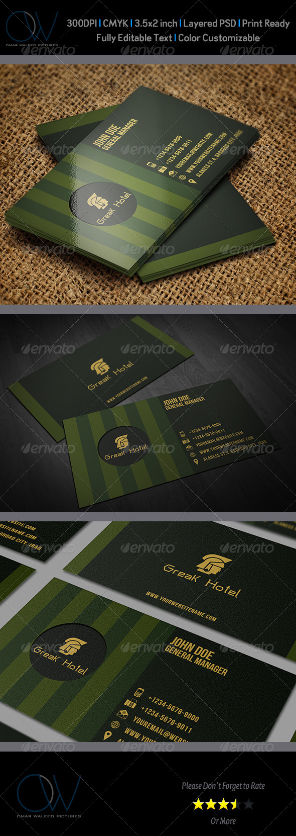 Hotel Business Card Template by OWPictures | GraphicRiver