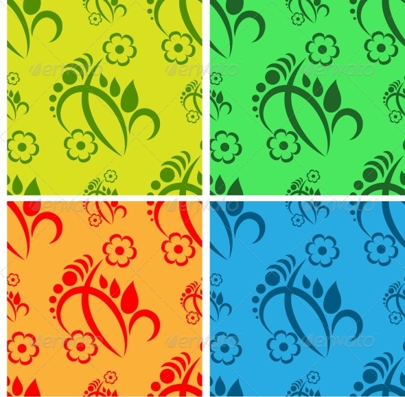 Flower Seamless Background - Patterns Decorative