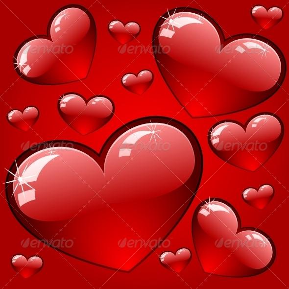 Hearts Background - Decorative Symbols Decorative