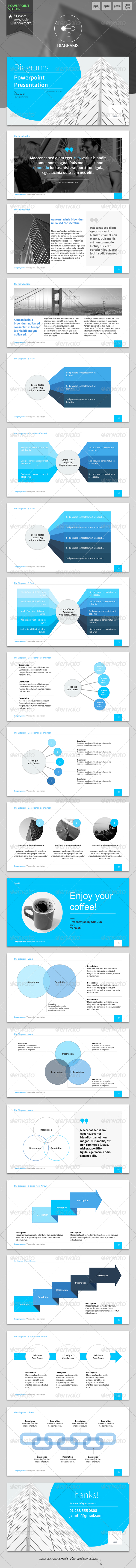 Diagrams - Powerpoint Template - PowerPoint Templates Presentation Templates