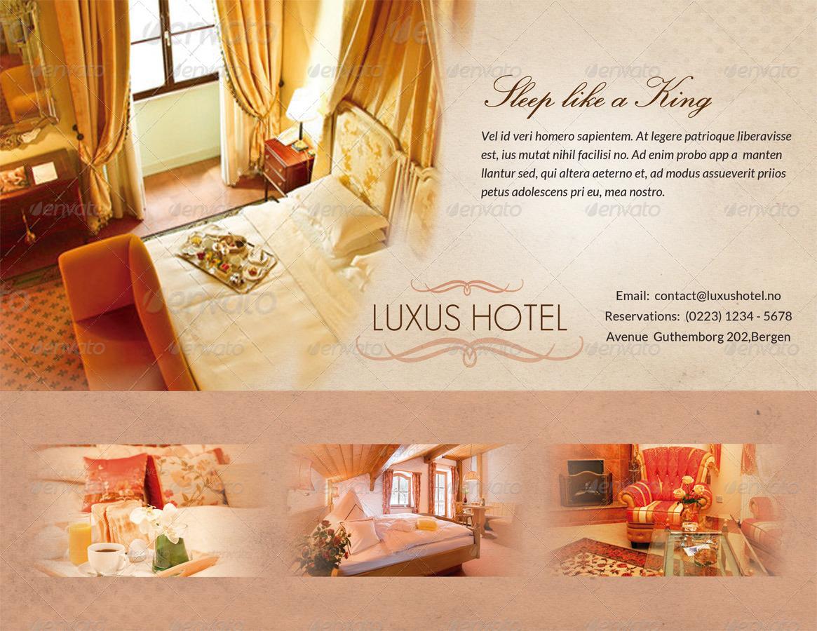 Luxury Hotel Flyer By Ingridk Graphicriver