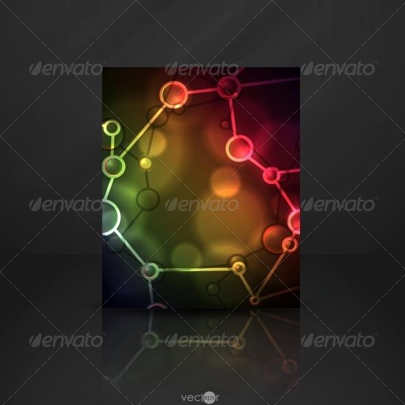 Neon Molecule Illustration. - Health/Medicine Conceptual
