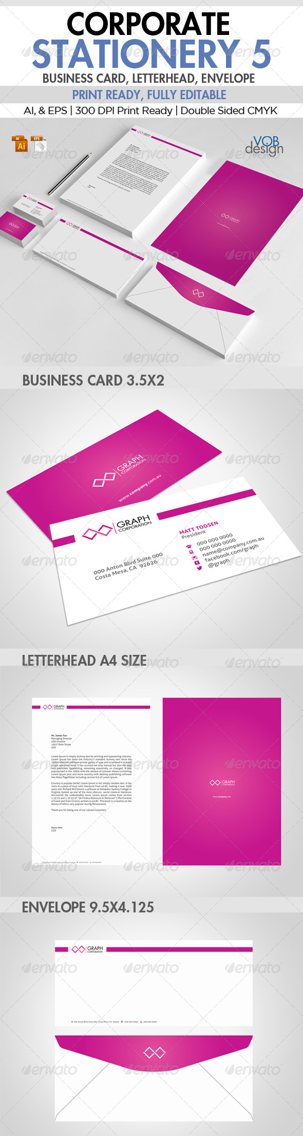 Corporate Stationery 5 - Stationery Print Templates