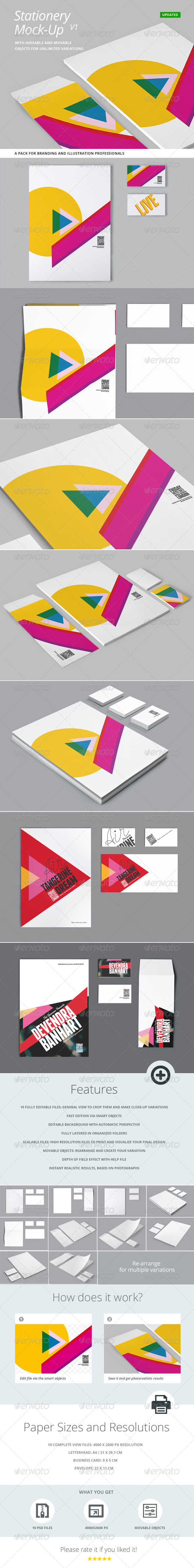 Stationery and Branding Mock Up - Stationery Print