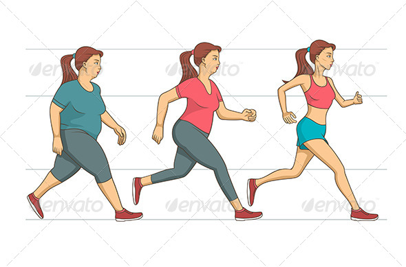Body Weight Loss - Sports/Activity Conceptual
