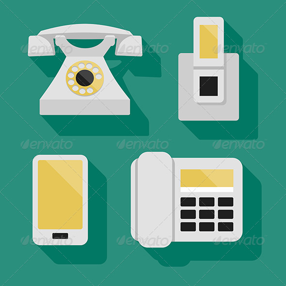 Phones - Objects Vectors