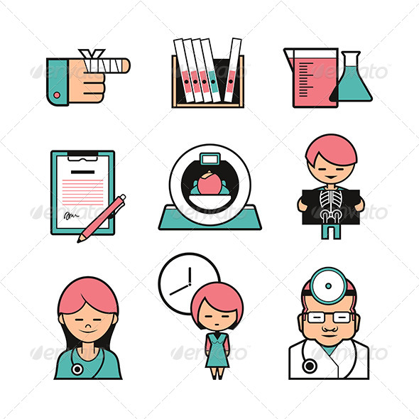 Medical Color Icons - Health/Medicine Conceptual